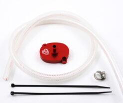TB Breather Kit, Red, Honda/Import V2 Race Head