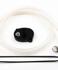 TB Breather Kit, Black, Honda/Import V2 Race Head